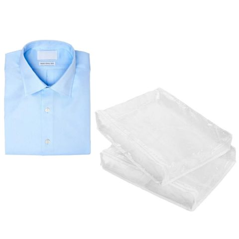 Optic Clear Folded Shirt Storage Bags (2 Pack)